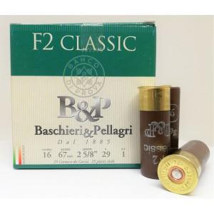 Baschieri & Pellagri lovsko šibreno strelivo F2 Classic 16/67 29g - 4 = 3,1mm