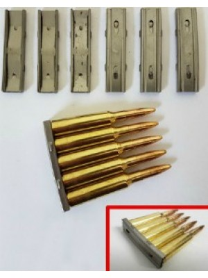 PRIHAJA!!! Pripomoček (letvica) za hitro polnjenje nabojev za Švedski mauser, model: M96, kal. 6,5x55