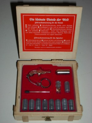 Berloque rabljena zbirateljska mini signalna pištola, kal.2mm