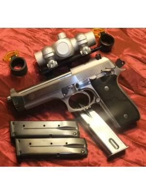 Taurus rabljena STAINLESS polavtomatska pištola, model: PT 99 AFS, kal. 9mm z rdečo piko