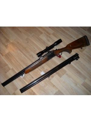 CZ Češka Zbrojovka rabljena kombinirana puška, model: 2 CPL, kal. 12/70 in 7x65R z strelnim daljnogledom Nickel Superflex 1 3/4-6x42 + menjalne cevi kal.12/70 (REZERVIRANO)