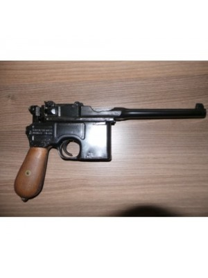Mauser rabljena polavtomatska pištola, model: C96, kal.7,63 Mauser + leseno kopito-etui
