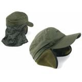 Kapa zelena z zaščito proti soncu