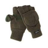 Zimske pletene rokavice Thinsulate oliv