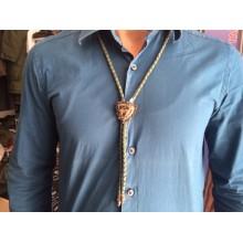 Lovska kravata - usnjena vrvica z dodatkom pravega roga