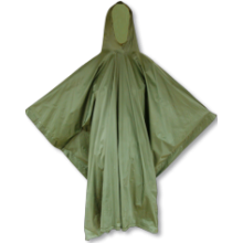Poncho hunting waterproof in green color