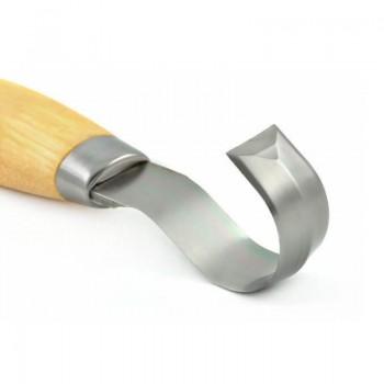 Mora nož za rezbarjenje, model: Wood carving Hook knife 162S (stainless steel - nerjaveče jeklo)