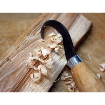 Mora nož za rezbarjenje, model: Wood carving Hook knife 163S (stainless steel - nerjaveče jeklo)