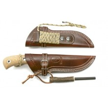 Muela fixed full tang knife, model: Aborigen 12C with fire starter