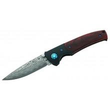 Puma Tec preklopni nož z damaščanskim rezilom in lesenim ročajem (črno-rjav)