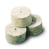 Čistilni čepki iz filca (merino volne) z dodatki medeninastih vlaken, Intensive zeleni kal. 12 (za šibrenice)
