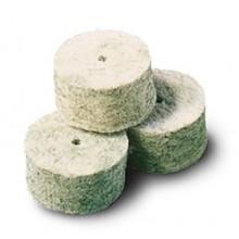 Čistilni čepki iz filca (merino volne) z dodatki medeninastih vlaken, Intensive zeleni kal. 20 (za šibrenice)