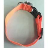Lovska oranžna ovratnica za pse iz najlona - 50 cm (z možnostjo krajšanja ovratnice)