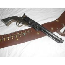 PRIHAJA!!! Dekorativni revolver + usnjeni etui + dekorativni naboji