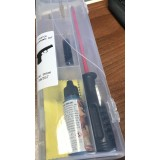 Komplet za čiščenje orožja za pištole ali revolverje (kal. 9mm, .357 Mag., .38 Spec.) + olje + krpica in nastavek